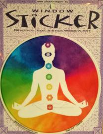 Raamsticker  Yoga & chakra`s