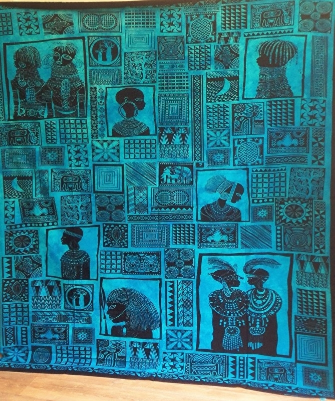 Grand Foulard Donkerblauw.Grand Foulard Afrikaans Spirituele Grand Foulard A La Tara