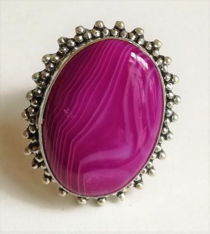 Ring Agaat Roze