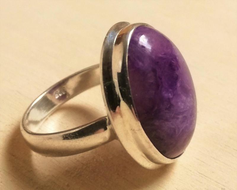 Edelsteen ring Charoiet