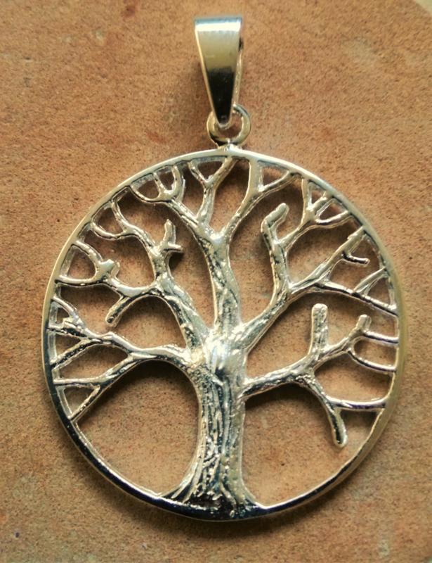 Hanger 'Levensboom' - zilver
