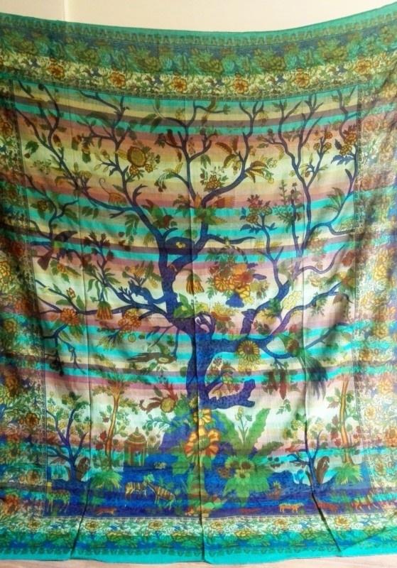 Oosterse Grand Foulard.Grand Foulard Levensboom Spirituele Grand Foulard A La Tara