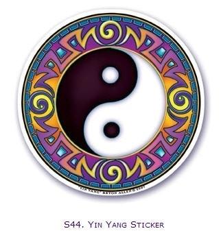 "Raamsticker ""Yin Yang"""