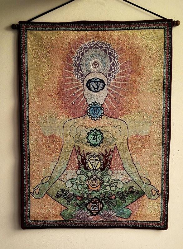 Wandkleed Yogi Chakra's