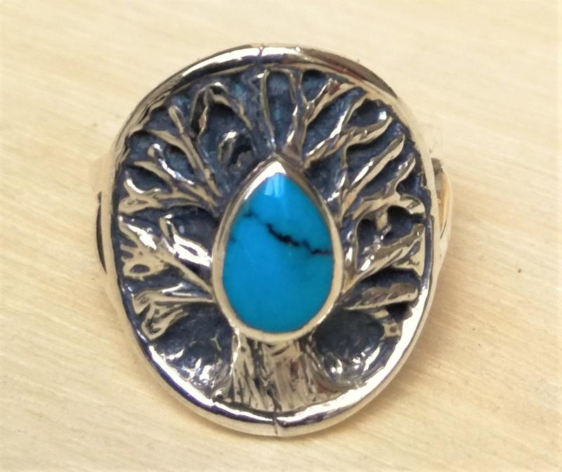 Zilveren ring Tree of Life