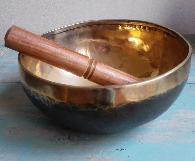 "Tibetaanse Klankschaal ""Black gold bowl"""