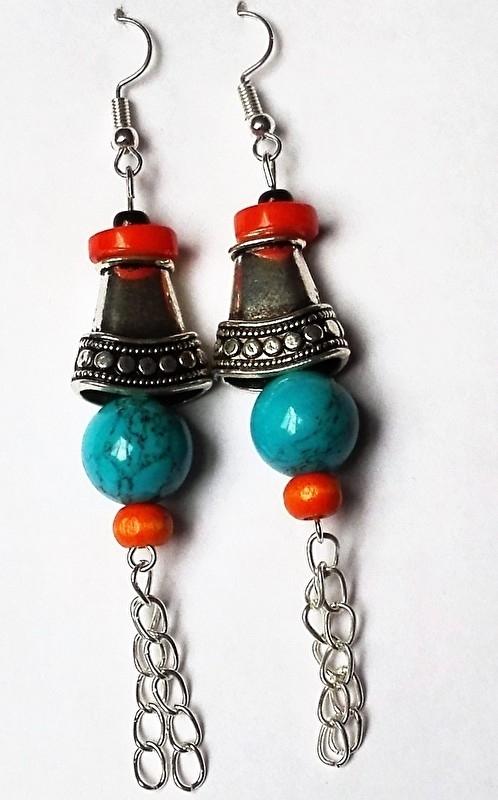 """Tibetaanse oorbellen """"Bel"""""""