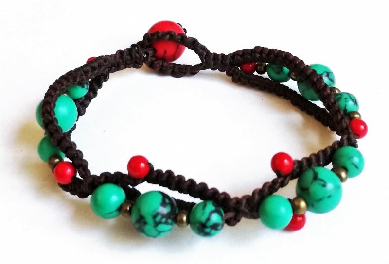Tibetaanse armband Turkoois