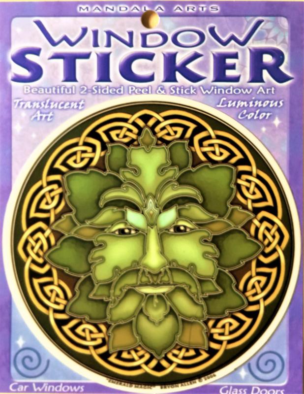 Raamsticker Green Man