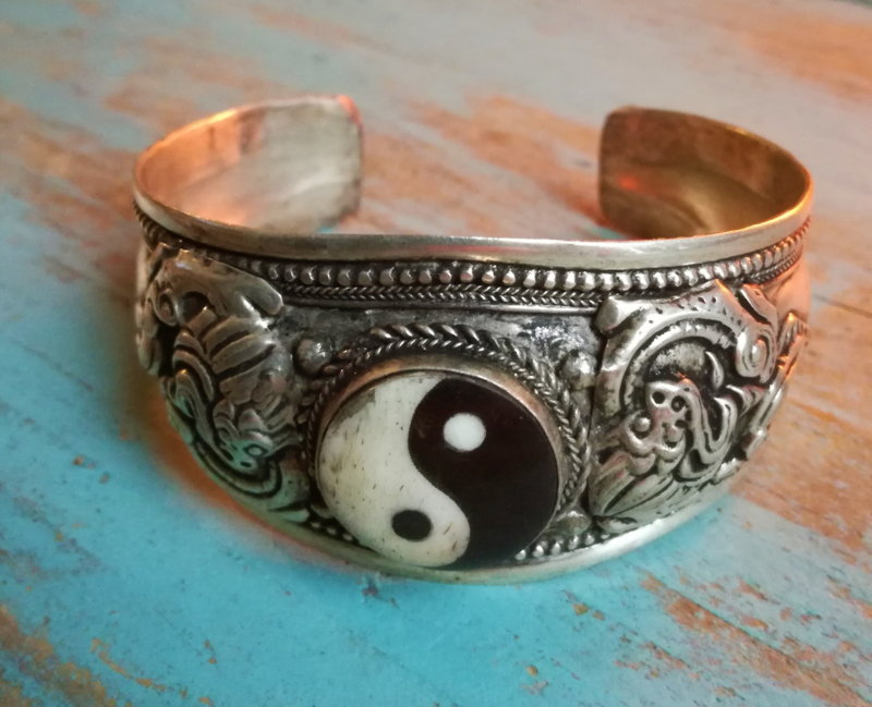 Tibetaanse armband 'Yin Yang'