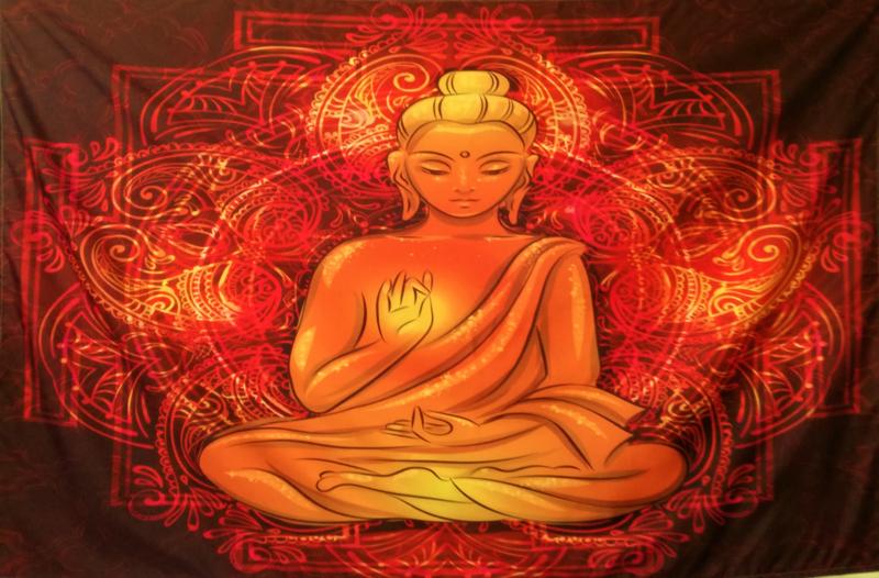 Wandkleed Gouden Boeddha