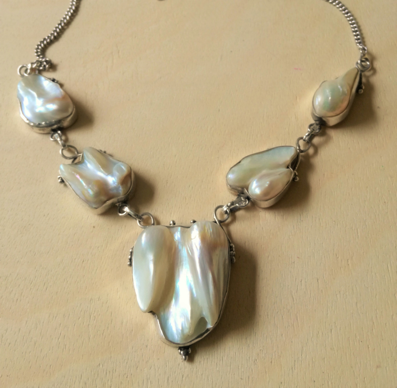 Parel Halsketting 925 zilver