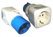 Adapter CEE stekker/ wandcont.doos RA