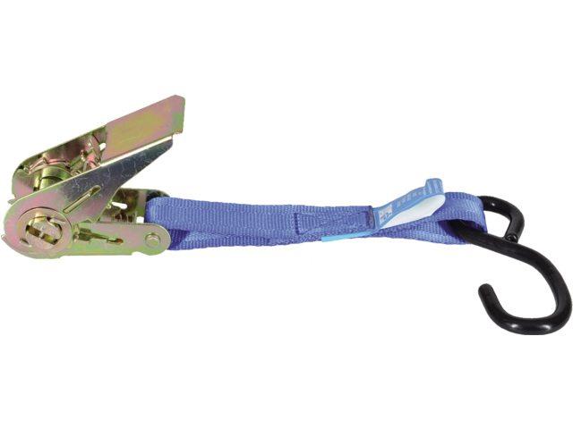 spanbanden met ratelgesp & s-haak 25 mm 5 mtr