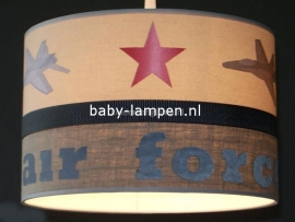 kinderlamp stoer airforce beige en grijs