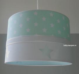 kinderlamp mint groen sterren