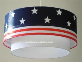 kinderlamp dubbel  lampenkap Amerika