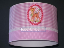 Kinderlamp roze met bambi