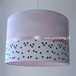 kinderlamp roze met wolkjes