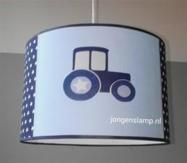 kinderlamp met tractor blauw