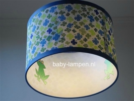 kinderlamp klavertjes en kikkers