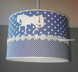 Paardenlamp old blue