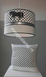 Kussen in dezelfde stoffen als de hanglamp