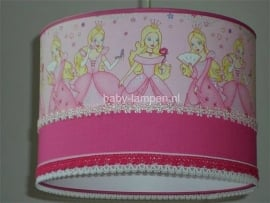 kinderlamp prinsessen roze