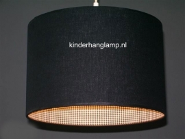 kinderlamp zwart en zwart wit mini ruitje