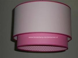 Kinderlamp dubbel roze en hartjes