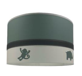 Kinderlamp oud groen met jungle dieren
