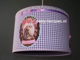 Kinderlamp met paard en naam in paars