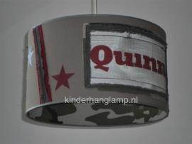 kinderlamp stoer steigerhout naam en legerprint