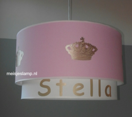 kinderlampen roze gouden kroon