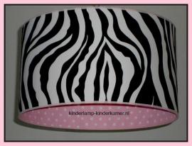 Meisjeslamp zebra en roze stip