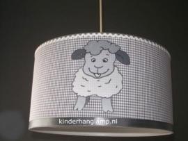 kinderlamp drie grijze schaapjes