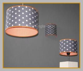 Wandlamp in dezelfde stoffen als de hanglamp