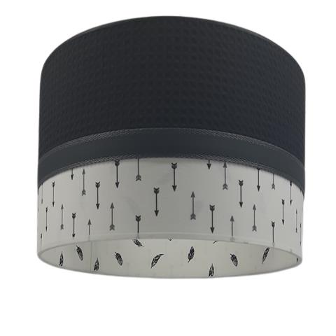 Lamp kinderkamer zwarte wafelstof