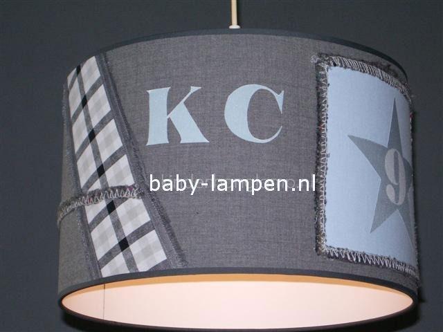 Kinderlamp stoer grijs lichtblauw KC