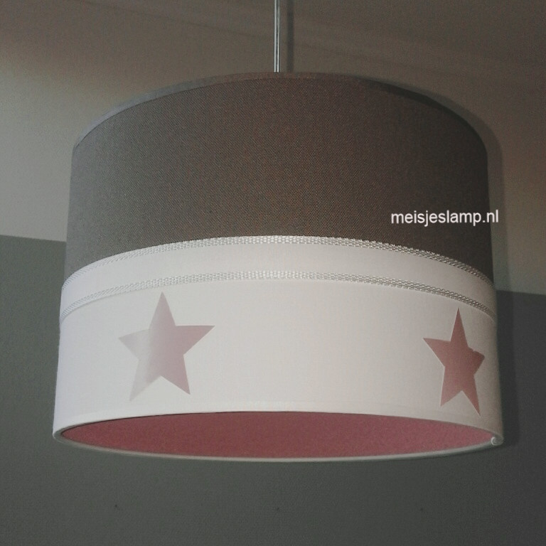 kinderlamp oud roze taupe