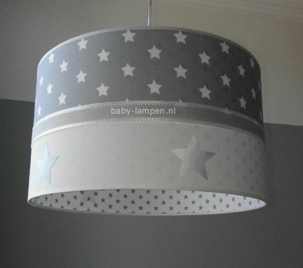 lamp kinderkamer grijs en sterren