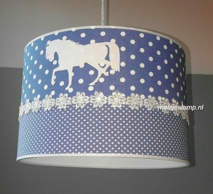Paardenlamp old blue