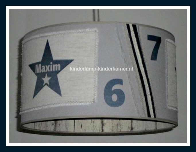 Stoere lamp Maxim in ster en steigerhout