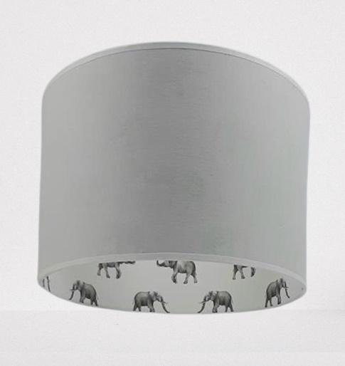 kinderlamp grijs met olifantjes
