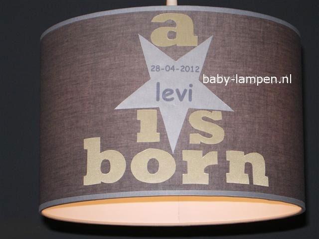kinderlamp taupe a star is born met naam