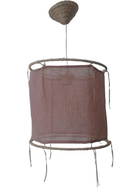Ibiza hanglamp oud roze