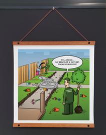 Print 'De beuk erin'