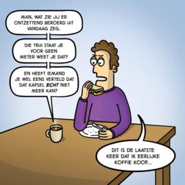 Canvas Eerlijke koffie