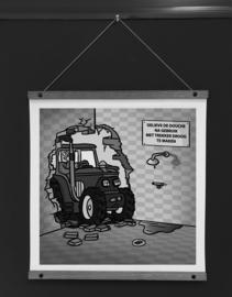 Art-poster 'Trekker douche'