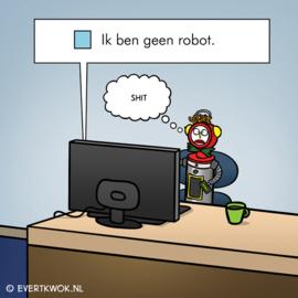 Canvas Geen robot